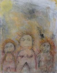 Figurativt maleri kunst af Charlotte Tønder - Funny people