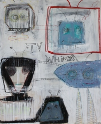Figurativt maleri kunst af Charlotte Tønder - TV Whimps