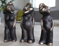 3 gnavne mænd - Pris pr. skulptur - 2700 DKK